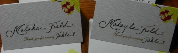 Place Cards from Hawaii